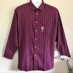 Arrow Men's Plaid Shirt Regular Fit Wrinkle Free